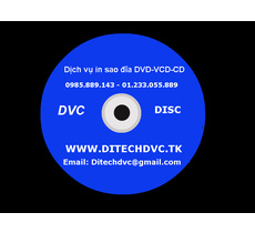 In sao đĩa cd, vcd, dvd