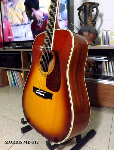 1 Guitar Acoustic MORRIS MD 512, giá 7.500.000đ